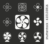 fan vector icons set.... | Shutterstock .eps vector #610133816