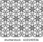 geometric pattern with floral... | Shutterstock .eps vector #610140536