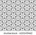 geometric pattern with floral... | Shutterstock .eps vector #610145462