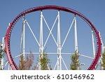 loop of a roller coaster track | Shutterstock . vector #610146962