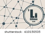 lithium chemical element. sign... | Shutterstock .eps vector #610150535