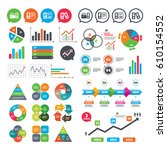 business charts. growth graph.... | Shutterstock .eps vector #610154552