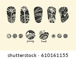 set of vector style freehand... | Shutterstock .eps vector #610161155