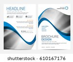 brochure or flyer design... | Shutterstock .eps vector #610167176