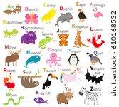 Zoo Animal Alphabet. Cute...