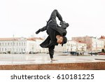 young handsome male dancer in... | Shutterstock . vector #610181225