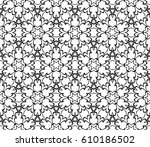 geometric pattern with floral... | Shutterstock .eps vector #610186502