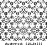 geometric pattern with floral... | Shutterstock .eps vector #610186586