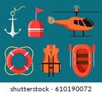 Marine Icon Set Of Sea Safety ...