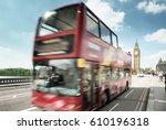 motion bus in london  uk | Shutterstock . vector #610196318