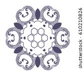 round ornament. vector... | Shutterstock .eps vector #610210826