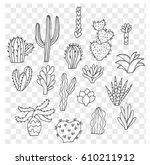cute hand drawn traced vector... | Shutterstock .eps vector #610211912