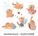 set of cartoon illustration. a... | Shutterstock . vector #610212068