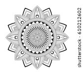 floral mandala  vector... | Shutterstock .eps vector #610212602