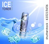 ice toner contained in the... | Shutterstock . vector #610215656