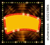 abstract shining retro light... | Shutterstock .eps vector #610215806