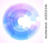 geometric frame  vector... | Shutterstock .eps vector #610221146
