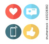 coloured buttons for your site   Shutterstock .eps vector #610228382