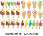 collection ice cream icon | Shutterstock .eps vector #61023538