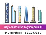 abstract city constructor in... | Shutterstock .eps vector #610237166