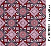 seamless pattern with spiral... | Shutterstock . vector #610252628