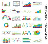 business data market elements... | Shutterstock .eps vector #610264508