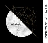minimalistic marble modern... | Shutterstock .eps vector #610267148