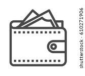 wallet thin line vector icon.... | Shutterstock .eps vector #610271906