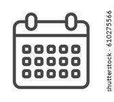 calendar thin line vector icon. ... | Shutterstock .eps vector #610275566