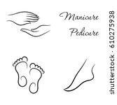contour manicure and pedicure...   Shutterstock .eps vector #610275938