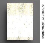 gold glitter background polka... | Shutterstock .eps vector #610280072