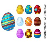 easter eggs spring colorful... | Shutterstock .eps vector #610280462