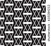 abstract vector black and white ... | Shutterstock .eps vector #610284212