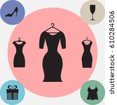 party fashion dress icon or... | Shutterstock .eps vector #610284506