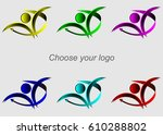 set of abstract web icons. set... | Shutterstock .eps vector #610288802