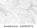 topographic map background... | Shutterstock .eps vector #610302272