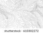 topographic map background... | Shutterstock .eps vector #610302272