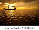 Fish Boat At Sunset .thailand