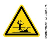 sign of poisonous in yellow... | Shutterstock .eps vector #610305875