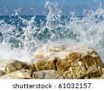 Sea Surf At Coast Of Abkhazia