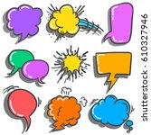 set of speech bubble various... | Shutterstock .eps vector #610327946