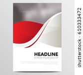 brochure or annual report cover ... | Shutterstock .eps vector #610333472