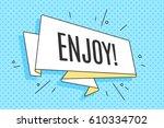 trendy old school ribbon banner ... | Shutterstock . vector #610334702