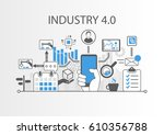 industry 4.0 vector... | Shutterstock .eps vector #610356788