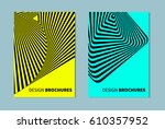 set of abstract banners in... | Shutterstock .eps vector #610357952