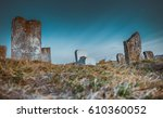 old jewish cemetery | Shutterstock . vector #610360052