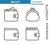 wallet icons. professional ... | Shutterstock .eps vector #610363778