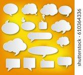 a large set of white speech... | Shutterstock .eps vector #610364336