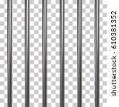 prison bars isolated on... | Shutterstock .eps vector #610381352