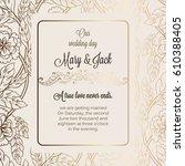 antique baroque luxury wedding... | Shutterstock .eps vector #610388405